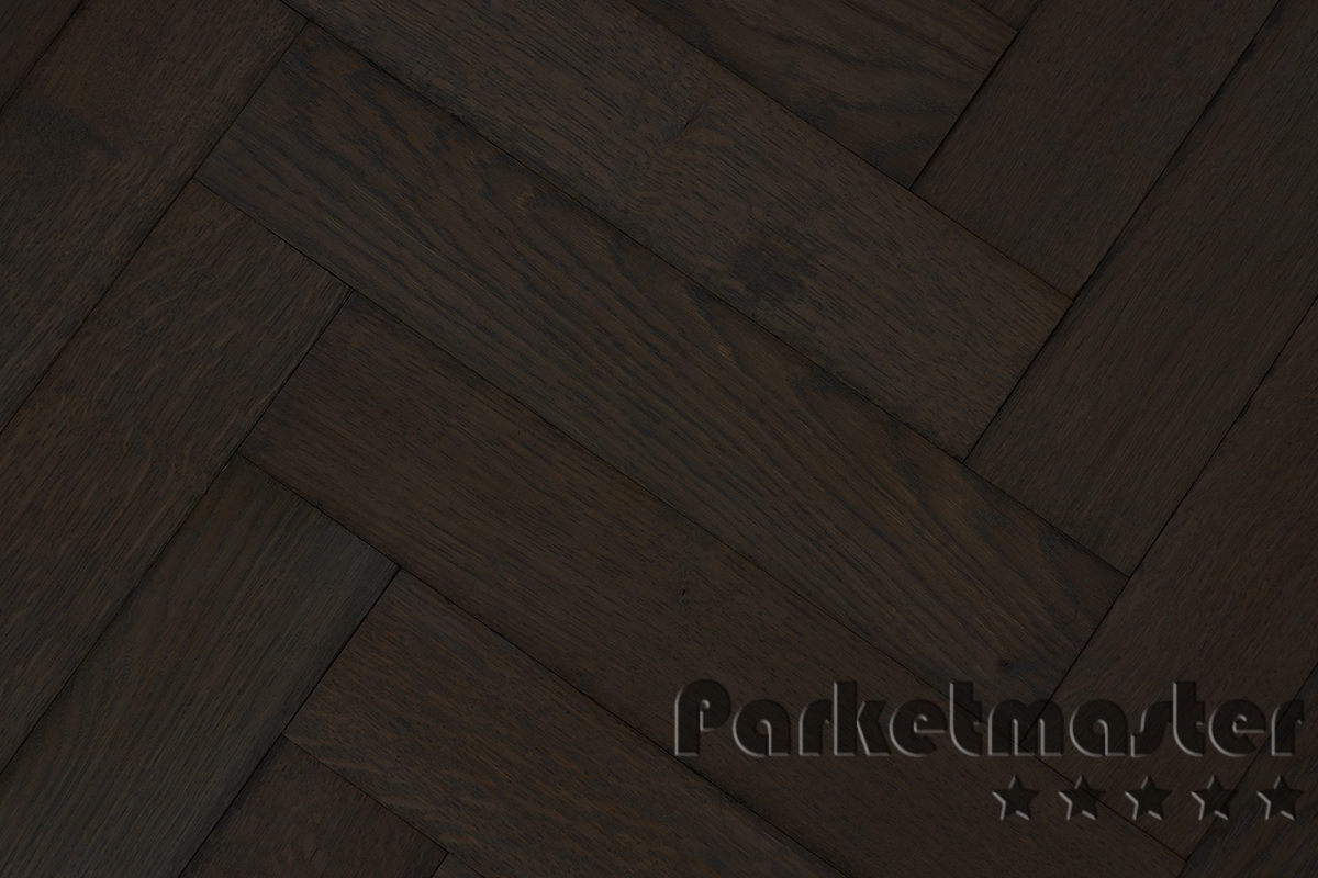Verouderde eiken visgraat tapis vloer obly